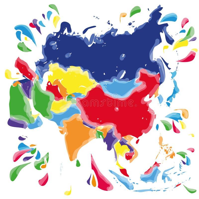 Taches et taches avec l'Asie illustration libre de droits