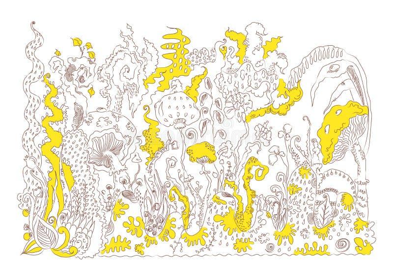 Taches jaunes illustration de vecteur