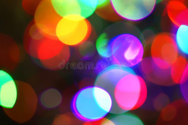 Taches lumineuses multicolores Le résumé Defocused allume le fond de vacances image libre de droits