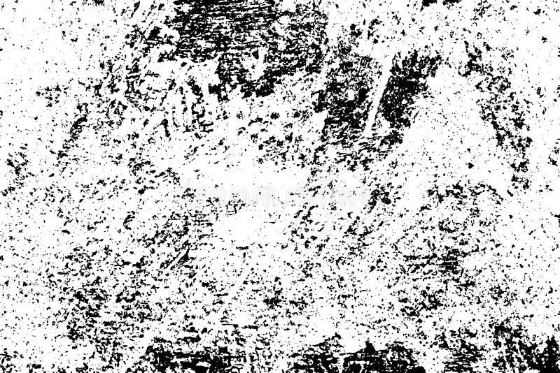 Taches noires et bruit pour l'effet affligé Vieux recouvrement utilisé de vintage illustration libre de droits