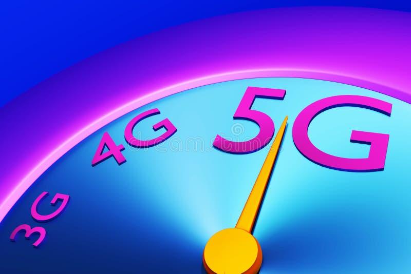 tachimetro a banda larga di misura 5g fotografia stock libera da diritti
