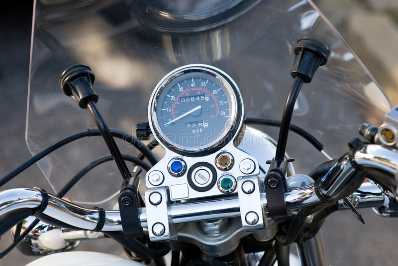 Tachimetro del motociclo fotografie stock libere da diritti