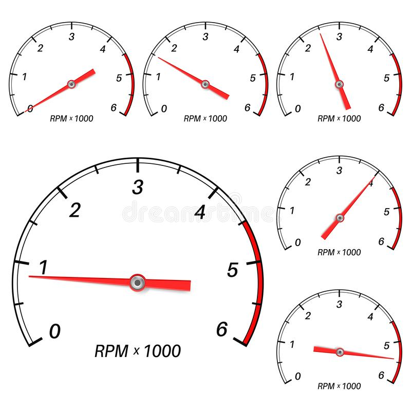 Free Tachometer Scale Set Stock Photography - 125240552