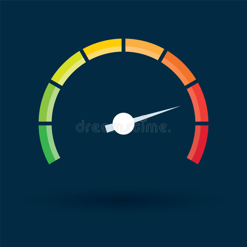 Free Tachometer With Color Values Stock Image - 70302461