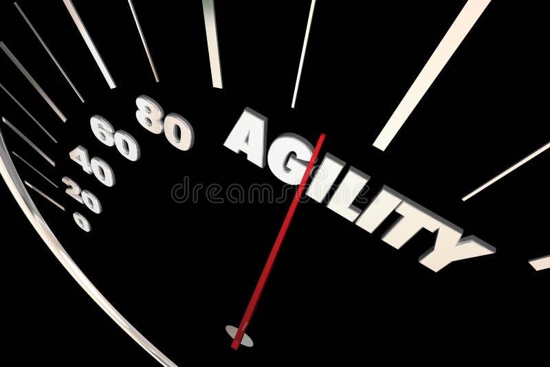 Tachymètre adaptatif de capacité de changement d'agilité illustration libre de droits