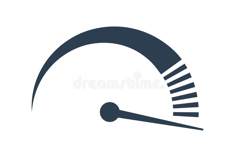 Tachymètre de vecteur icône de vitesse d'Internet représentation rapide illustration de vecteur