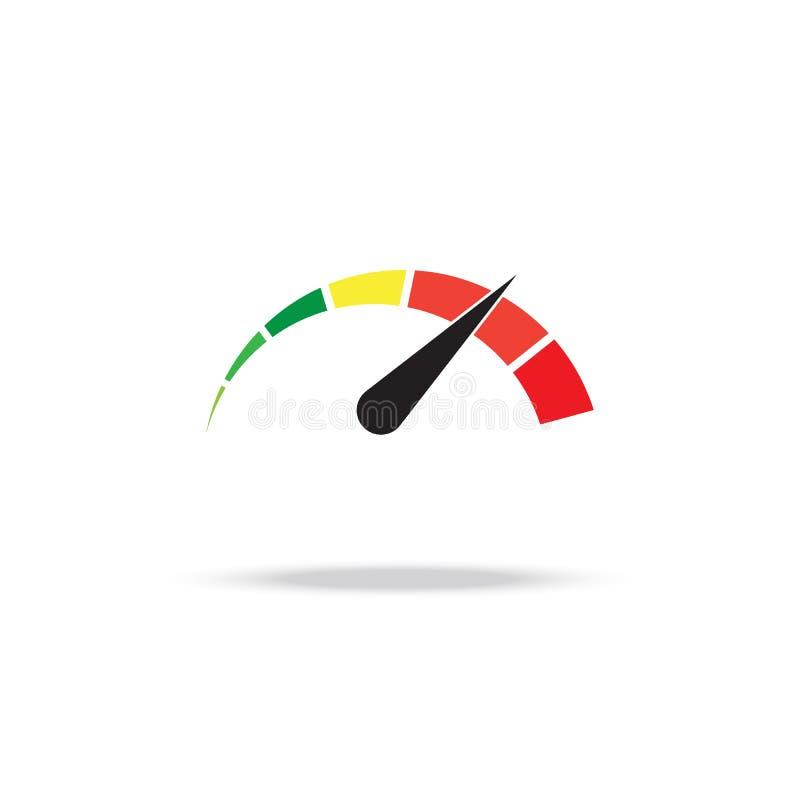 Tachymètre ou tachymètre avec la flèche Élément de mesure d'Infographic Calibre pour la conception de téléchargement Illustration illustration de vecteur