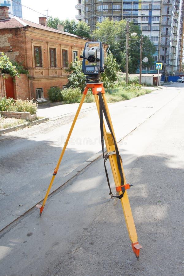 Tachymeter ein Instrument für das schnelle Maß von Abständen lizenzfreie stockfotografie