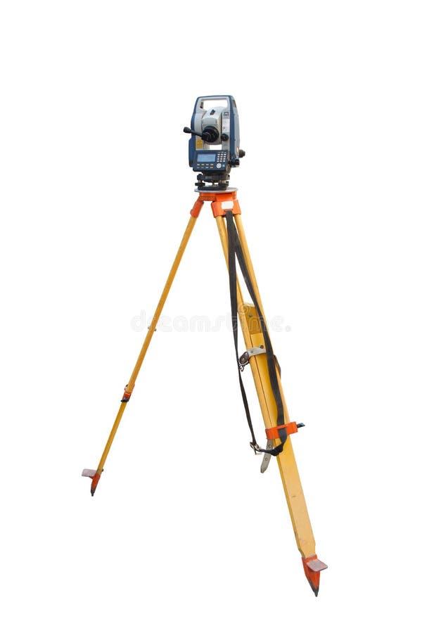 Tachymeter ein Instrument für das schnelle Maß von Abständen stockbilder