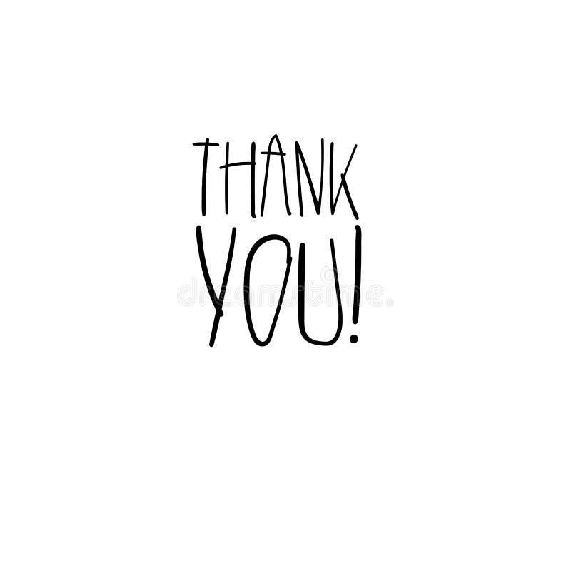 Tacka dig den handskrivna inskriften Hand dragen bokstäver Tacka dig kalligrafi kortet tackar dig också vektor för coreldrawillus vektor illustrationer