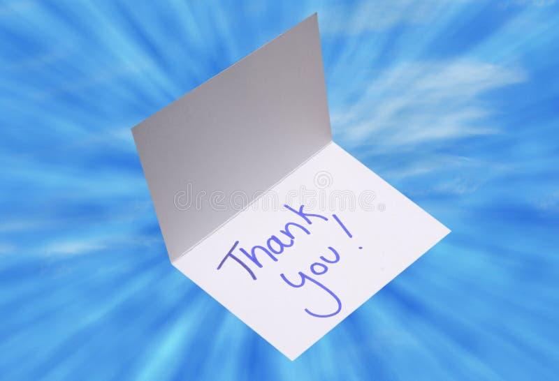 Tacka dig för att card eller tacksamhetbegreppet arkivfoton