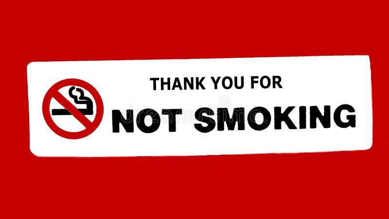 Tacka dig för att inte röka tecknet arkivfoton