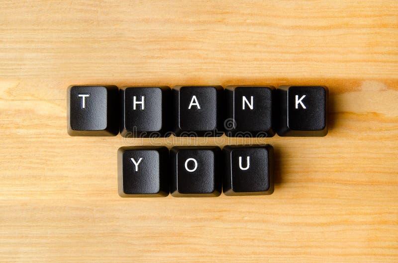 Tacka dig ord fotografering för bildbyråer