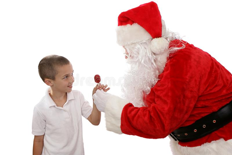 Tacka dig Santa royaltyfria foton