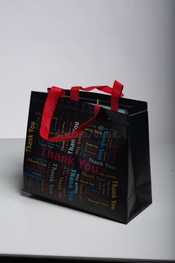 Tacka dig shoppingp?sen fotografering för bildbyråer