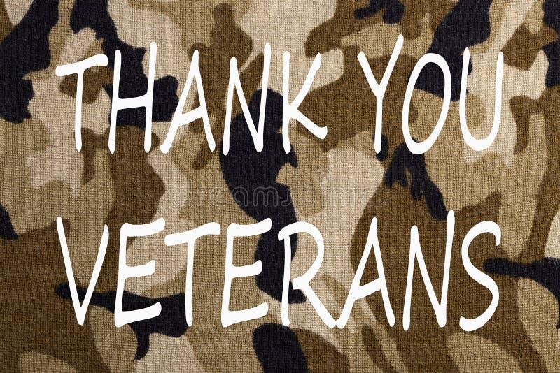 Tacka dig veteranbegreppet arkivbilder