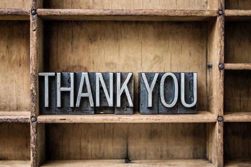 Tacka som dig, skriver boktryck in enheten arkivbilder