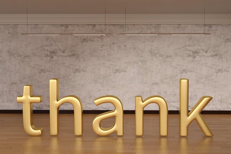 Tacka teckenbokstäver på trägolv illustration 3d stock illustrationer