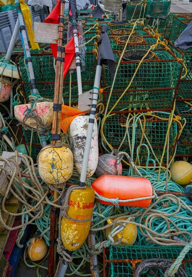 Tacke de la pesca de Ribadesella Asturias en el puerto España fotos de archivo