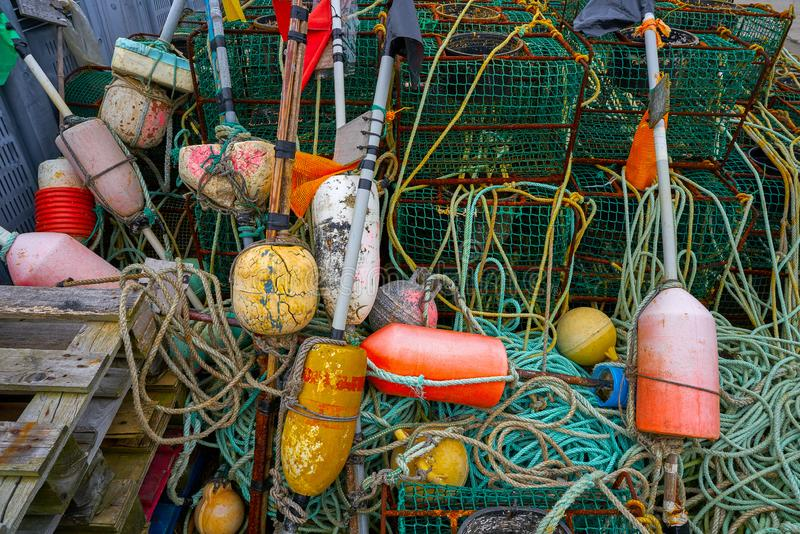 Tacke de la pesca de Ribadesella Asturias en el puerto España fotos de archivo libres de regalías