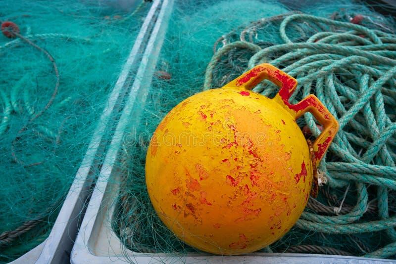 Tacke de la pesca de Ribadesella Asturias en el puerto España fotografía de archivo libre de regalías