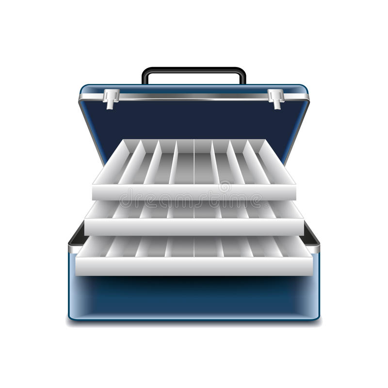 Tackle box on white vector stock illustration