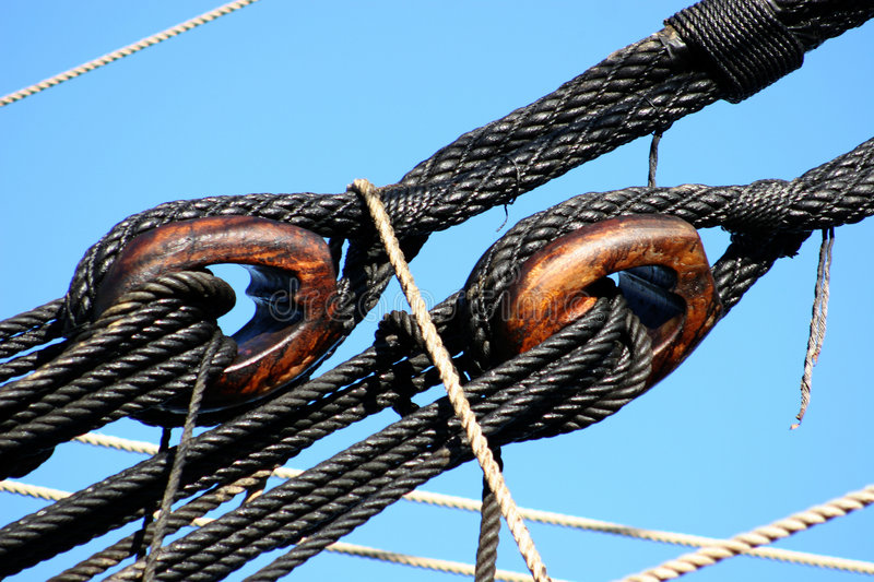 Download Tackles On Old Boat Stock Photo - Image: 214380