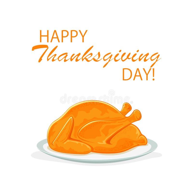 Tacksägelsedag med stekkalkon vektor illustrationer