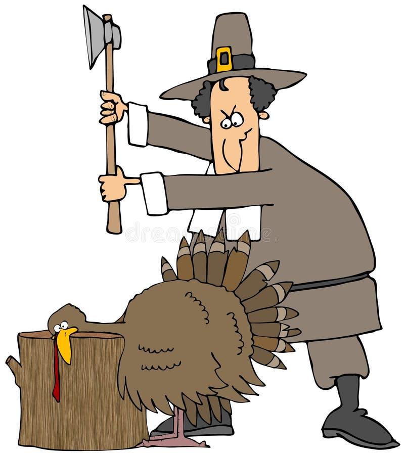 tacksägelsekalkon stock illustrationer