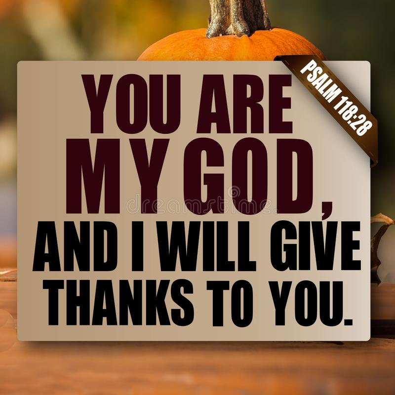 Tacksägelsepsalm118:28 arkivbilder