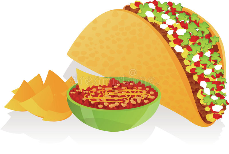 Taco vector illustratie