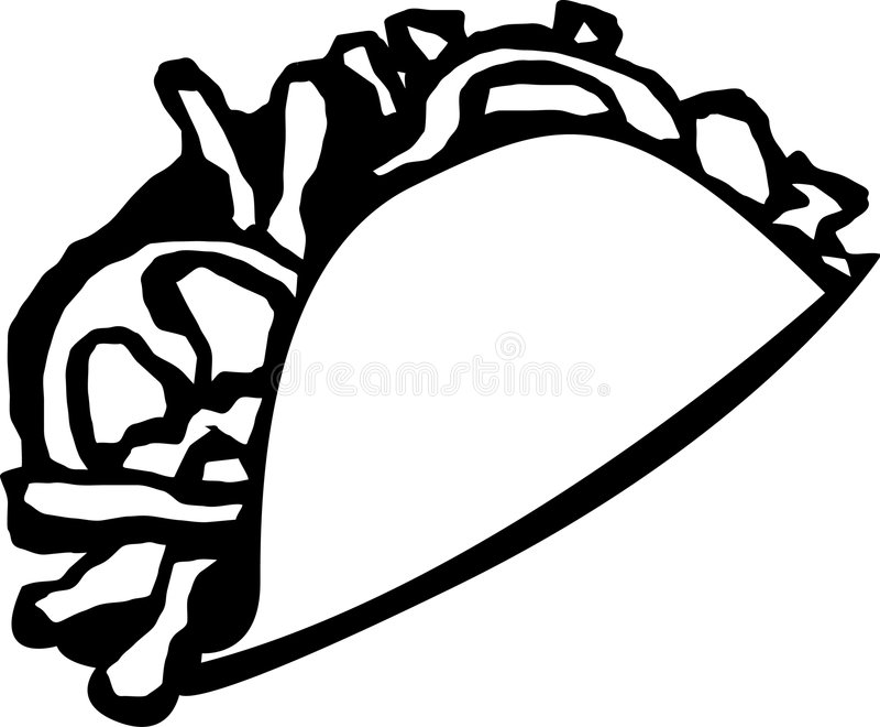 taco royaltyfri illustrationer