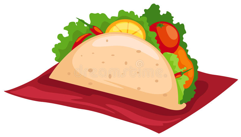 taco stock illustrationer