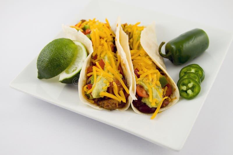 Taco, alimento mexicano fotografía de archivo