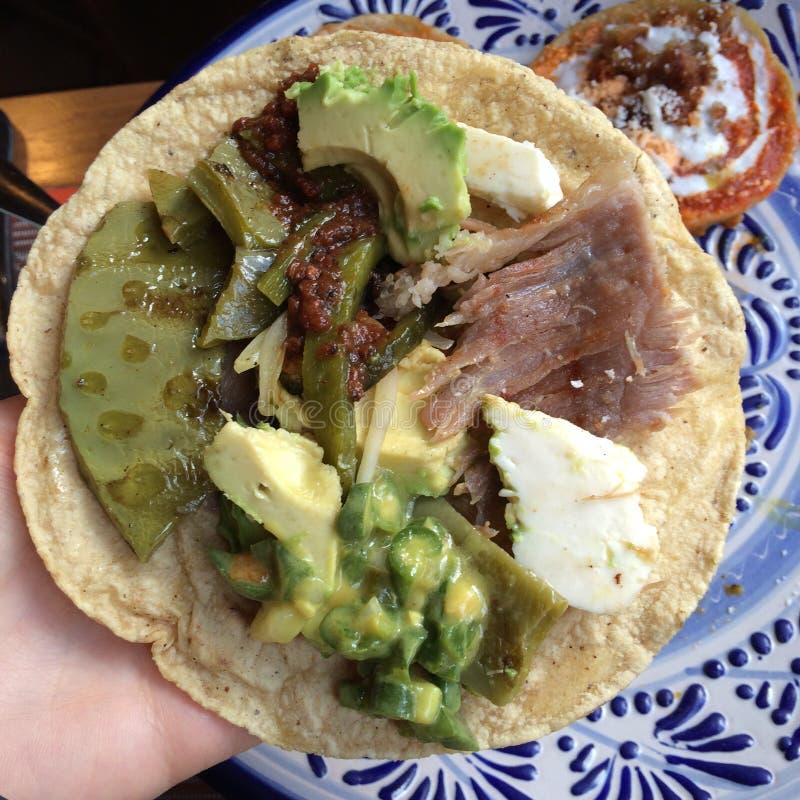 Taco auténtico de Cholula fotos de archivo