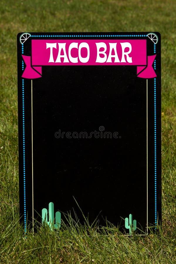 Taco bar fotografia royalty free