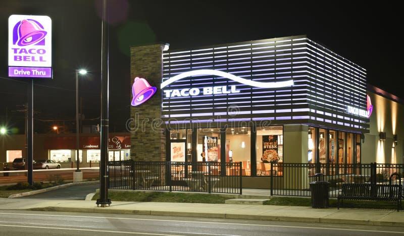 Taco Bell Nocne godziny fotografia royalty free