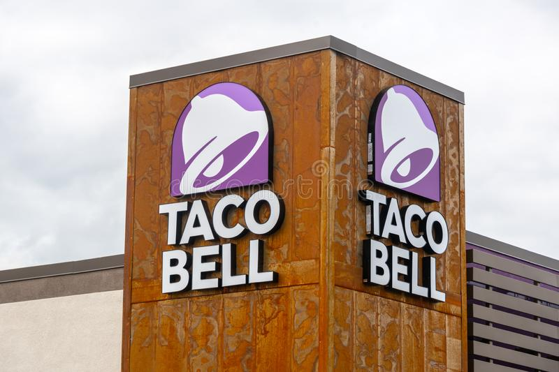 Taco Bell Restaurant Sign stock image