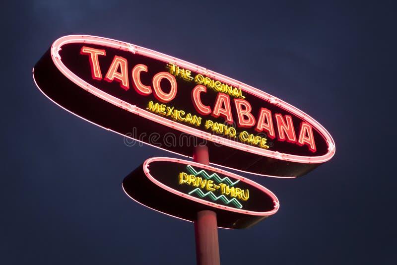 Taco Cabana-Restaurant-Logo lizenzfreies stockfoto