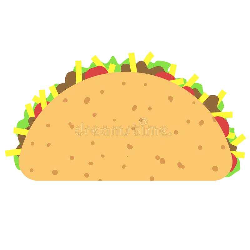 Free Taco Clipart Isolated On White Royalty Free Stock Photo - 113441235
