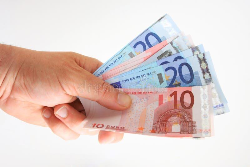 Taco de euros imágenes de archivo libres de regalías
