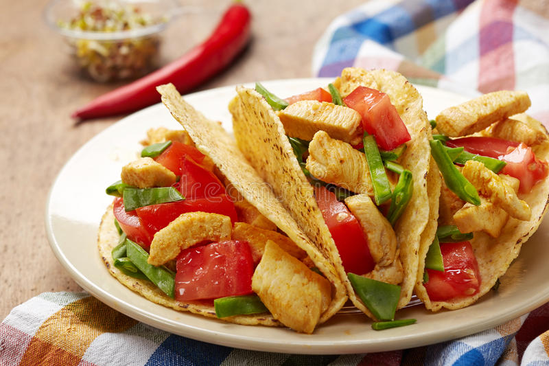 Taco de poulet photographie stock libre de droits