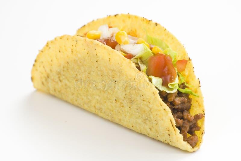 Taco delicioso, alimento mexicano imagem de stock