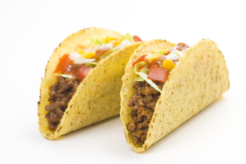 Taco delicioso, alimento mexicano imagem de stock royalty free