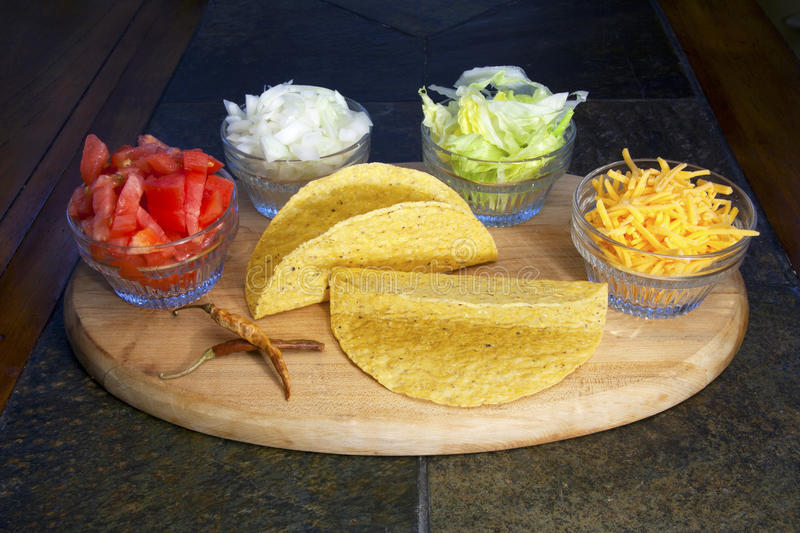 Download Taco Fixins stock image. Image of condiment, chili, cheese - 24061061