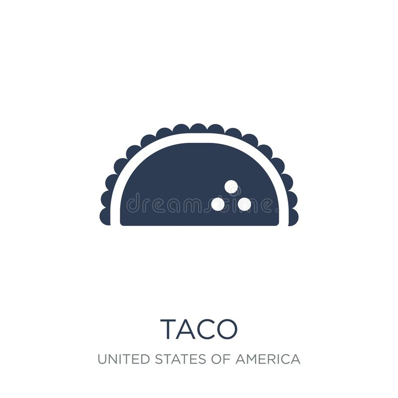 Taco icon. Trendy flat vector Taco icon on white background from. United States of America collection, vector illustration can be use for web and mobile, eps10 royalty free illustration