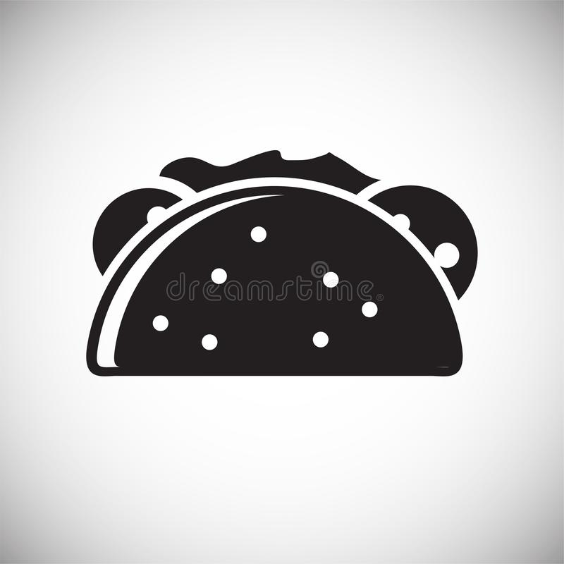 Taco icon on white background for graphic and web design, Modern simple vector sign. Internet concept. Trendy symbol for website. Design web button or mobile vector illustration