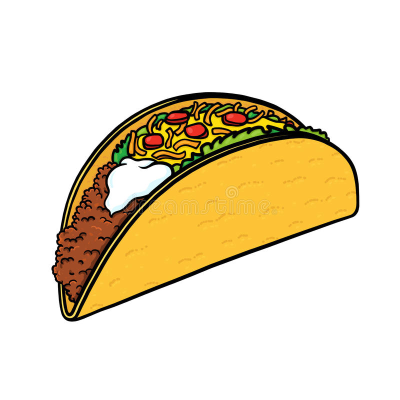Taco Illustration Stock Illustration. Illustration Of