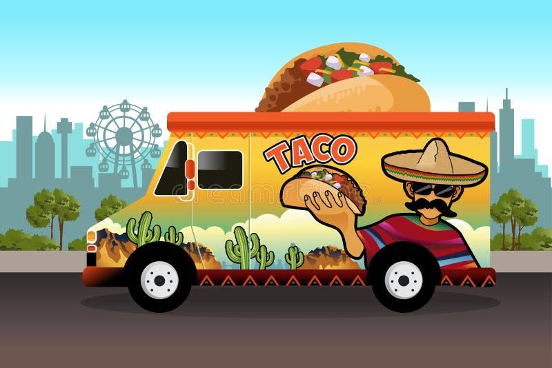 Taco jedzenia ciężarówka ilustracji