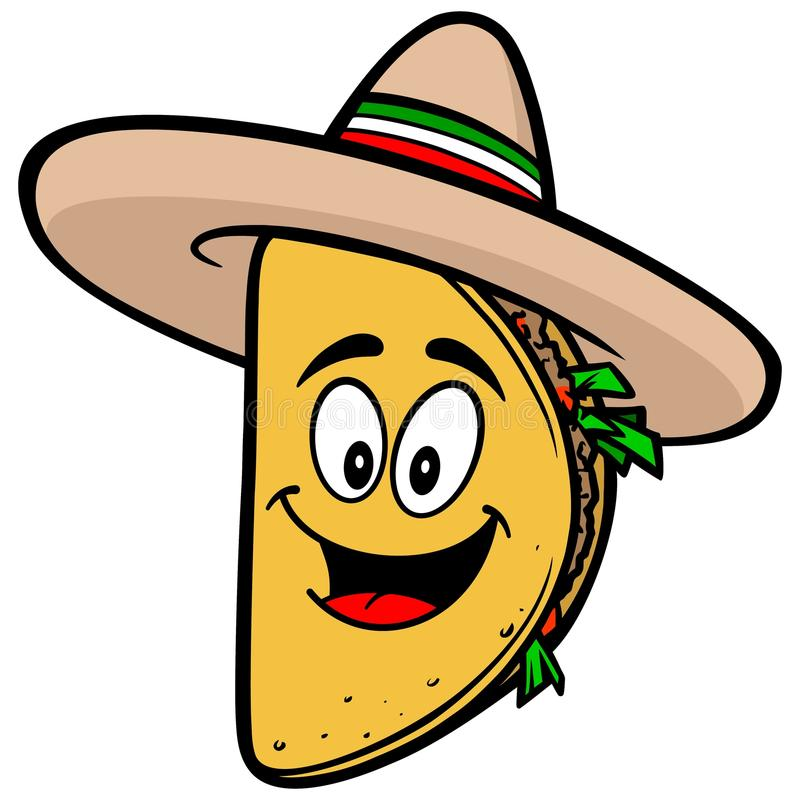 Taco maskotka royalty ilustracja